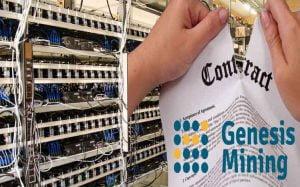 Genesis Minning menghentikan kontrak