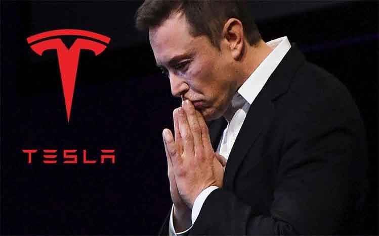 Elon Musk Saham Tesla Rontok